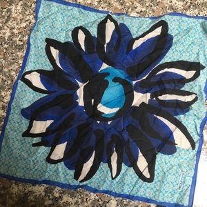 Coach necktie/ scarf/ bandana with flower